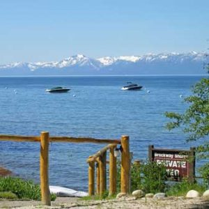 Waters of Tahoe Brockway Condo private pier and beach vacation rental