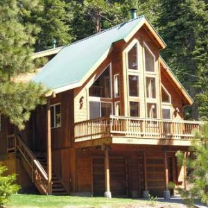 Agate Bay Lake Tahoe vacation rental deck with lots of sun and yard by Waters of Tahoe