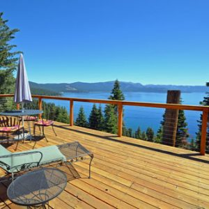 Dollar Point vacation rental with great views of Lake Tahoe large sunny deck