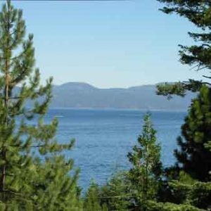 North Lake Tahoe vacation rental view of Lake Tahoe and walk to beach