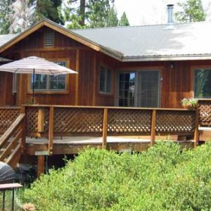 Kings Beach vacation rental at North Tahoe sunny back deck