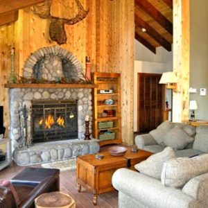 North Lake Tahoe vacation rental with a fireplace, hot tub and game room